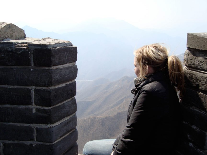 Brandy Little on the Great Wall of China
