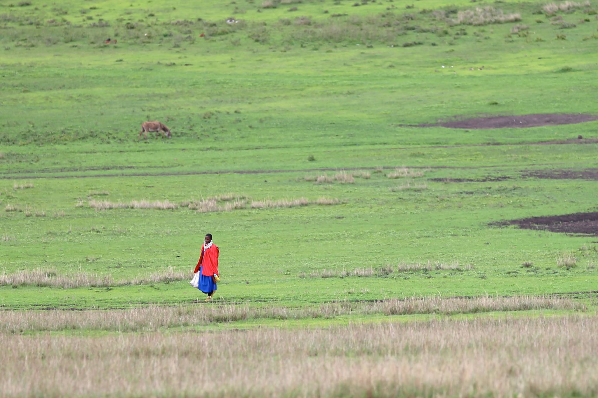Masai tribes-person in the Serengeti photo by Brandy Little