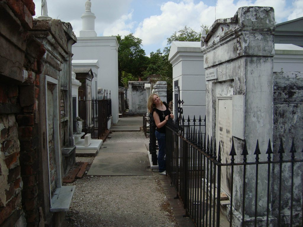 Brandy Little in the St. Louis Cemetery #1 in New Orleans