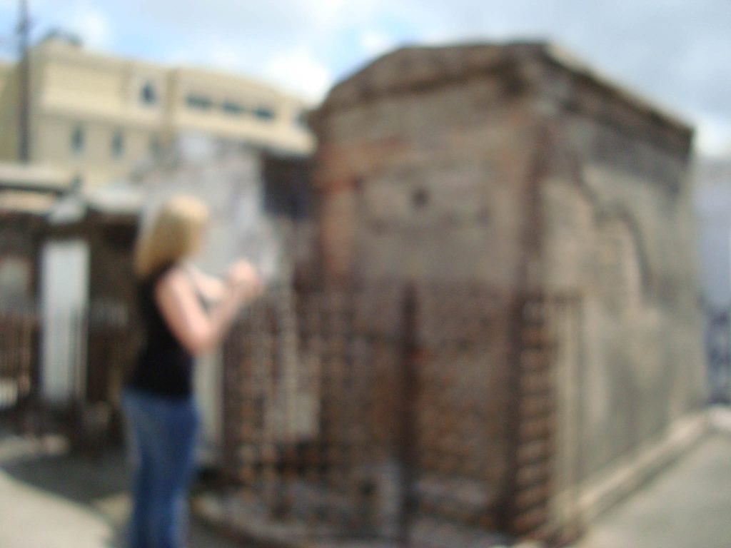 Brandy Little Selfie with a Spirit in the St. Louis Cemetery #1 in New Orleans