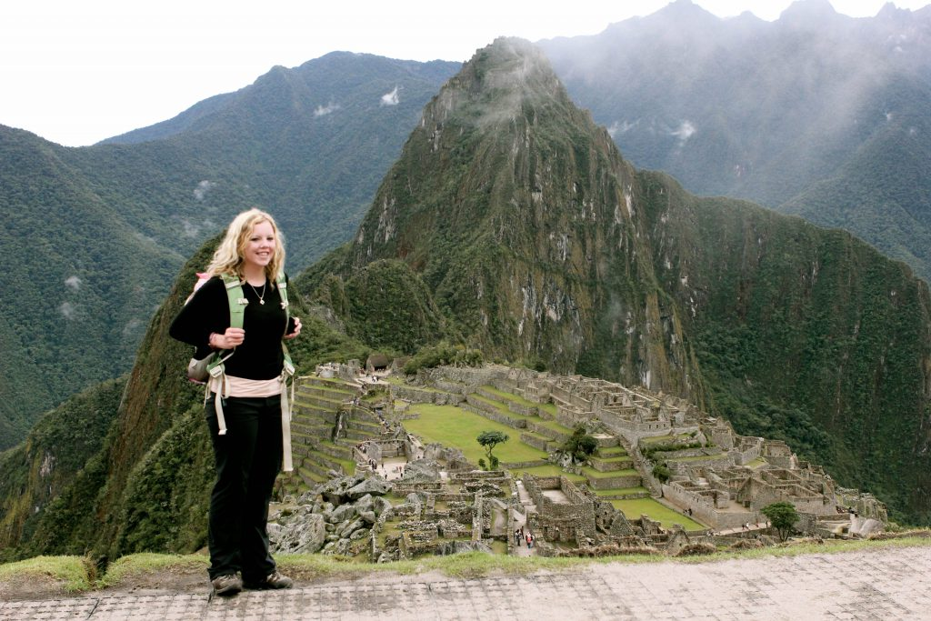 Brandy at Machu Picchu. Photo by Lenka Warren-Morgan.