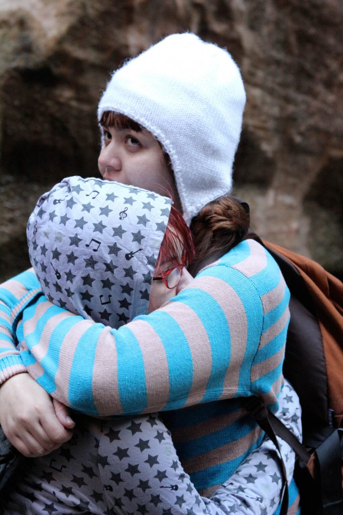 Leslie Alig and Stephanie Swartz-Kutlesa on the Subway Hike photo by Brandy Little