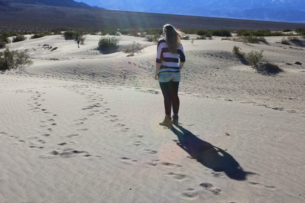 Brandy Little in Death Valley. Photo by Barbara Little.