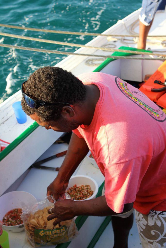 Fresh salsa in the Caribbean Sea. Photo by Brandy Little.