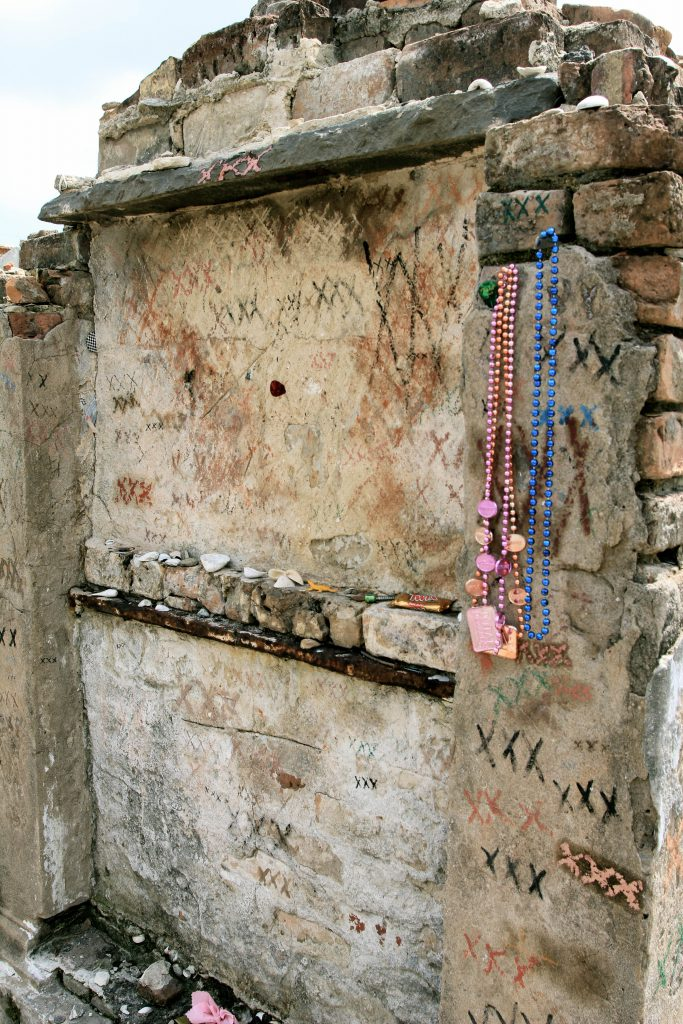 Marie Laveau's tomb at St. Louis Cemetery #1 in New Orleans photo by Brandy Little