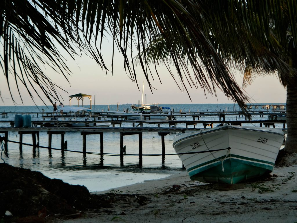 Beach on Caye Caulker. Photo by Brandy Little.