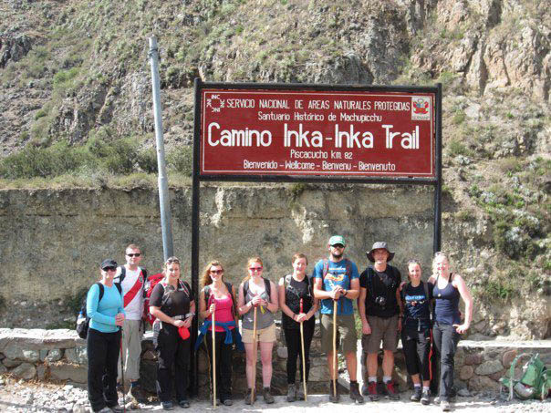 Trek group for the Inca Trail