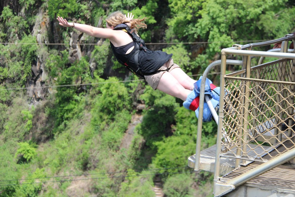 Brandy Little Bungee Jumping Off Victoria Falls Bridge