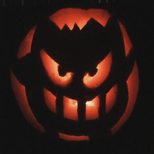 Gengar Carved Pumpkin photo by Brandy Little