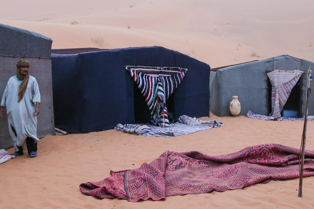 Sahara desert camp photo by Brandy Little