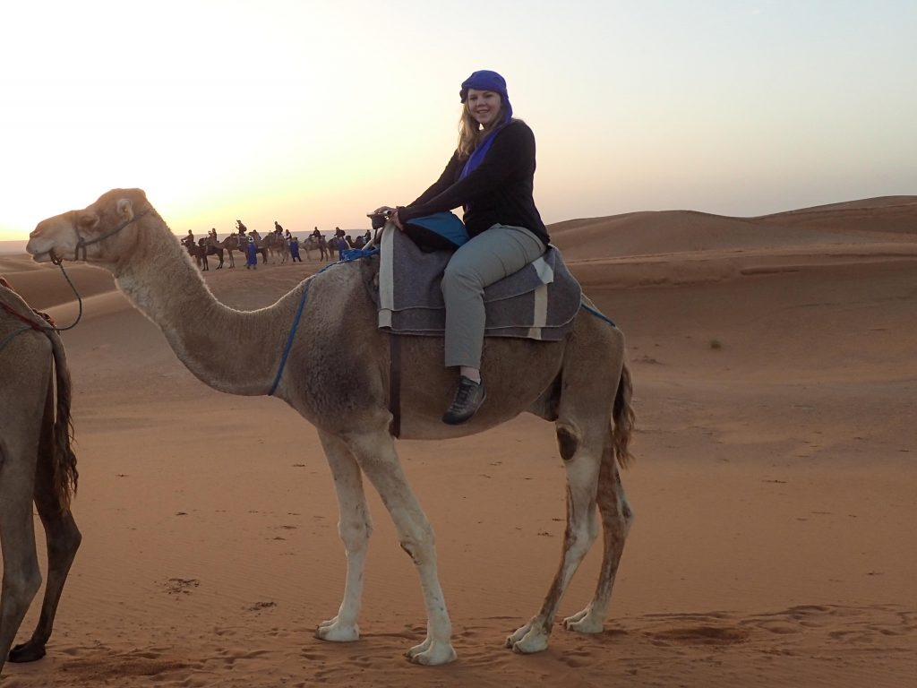 Brandy Little in the Sahara desert