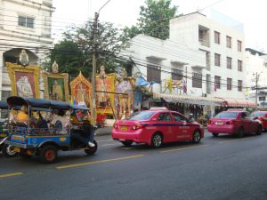 Pink Taxis in Bangkok photo by Brandy Little
