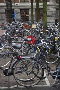 Yes, this many bikes in Amsterdam is normal photo by Brandy Little