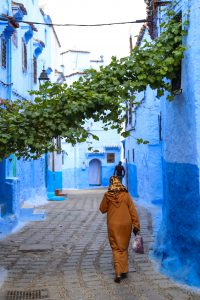 "In the streets of the ""Blue City"" Chefchaouen photo by Brandy Little"