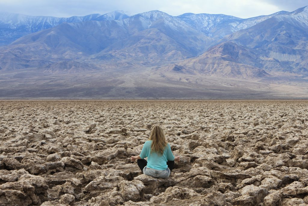 Brandy Little in Death Valley photo by Barbara Little